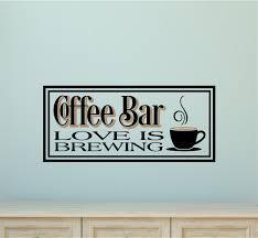 coffee bar love is brewing kitchen decor vinyl decal wall stickers coffee bar love is brewing kitchen decor vinyl decal wall stickers letters
