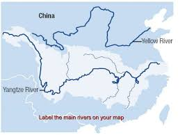 Map Of China Rivers by Ancient China Geography Of China China Is Isolated By Many