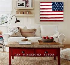 abstract american flag painting kids traditional with flag round