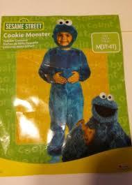 Cookie Monster Halloween Costume Toddler Toddler Sesame Street Cookie Monster Costume Size 3t 4t Ebay