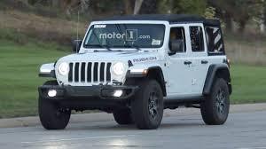 jeep wrangler 4 door blue spy spots released of new re designed 2018 jeep wrangler on street
