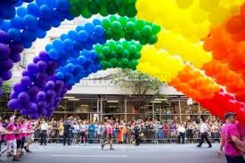 balloon delivery new york city pride parade