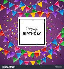 happy birthday greeting card background design stock vector