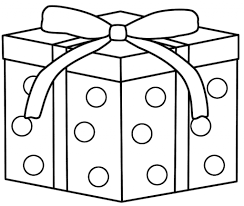 coloring pictures of christmas presents present coloring page bow decoration on top christmas presents pages