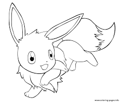 cute eevee pokemon coloring pages printable