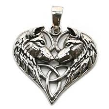 silver wolf pendant necklace images Wolf heart triquetra silver pendant p038 jpg