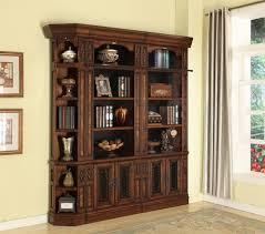 Chestnut Bookcase Leonardo 3 Piece Reversible Corner Bookcase Library Wall In
