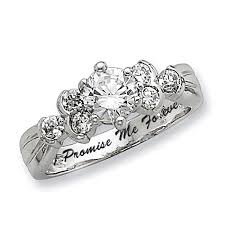 promise ring promise rings pre engagment ring in gold silver