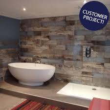 rustic blue wood plank tiles reclaimed wood effect tiles tiles