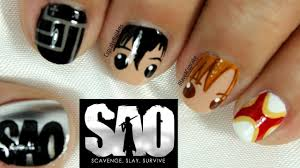 sword art online nail art youtube
