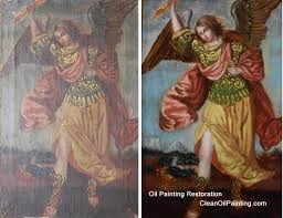 antique oil painting cleaning repair