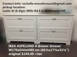 find more ikea aspelund 4 drawer dresser for sale at up to 90 off