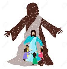 jesus loves the little children royalty free cliparts vectors