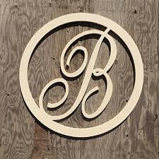 monogram letters sale 12 36 inch circle script wooden monogram letters