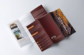 hotel brochure design templates hotel trifold brochure brochure templates creative market