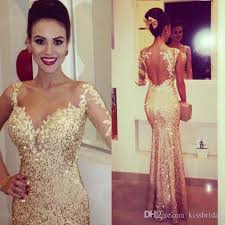 2015 gold sequined mermaid prom dresses with sweetheart low