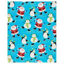 christmas gift wrap santa reindeer snowflake christmas gift wrap 3 count
