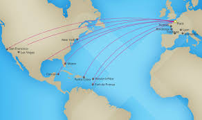 Delta Route Map by Xl Airways France World Airline News