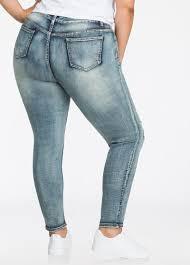 Plus Size Ripped Leggings Plus Size Jeans U0026 Denim Edgy Ripped Skinny Jean