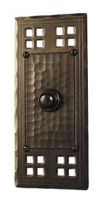 Exterior Door Bells Crafted Arts And Crafts Style Copper Door Bell Button