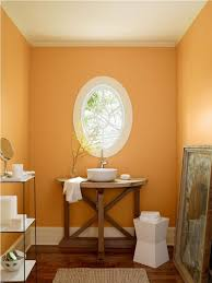 best white color for ceiling paint oval shaped windows with warm soft orange wall color for small