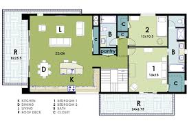 modern two house plans modern two bedroom house plans extraordinary design ideas 14 2