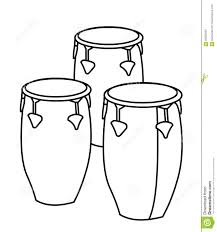 drums coloring page stock illustration image 86352840