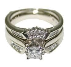 womens wedding ring 14k white gold 0 85ct diamond women s wedding ring set size 5 5