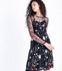 women u0027s embroidered dresses tea dresses new look