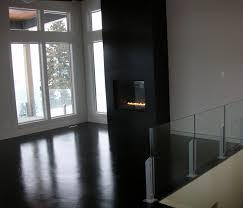 contemporary painting concrete floors black combine black wall