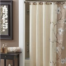 bathroom white shower curtains with extra long shower curtain