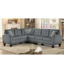 Gray Fabric Sectional Sofa Sinclair Reversible Sectional Sofa Gray Fabric Maranatha Furniture
