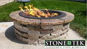 round propane fire pit table our small round recycled granite fire pit set up for propane round