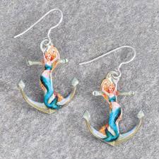 anchor earrings mermaid anchor earrings femail creations