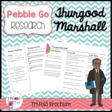 thurgood marshall pebblego research brochure by a primary owl tpt