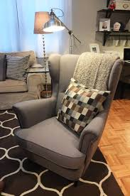 Best Armchair For Reading The Ikea Strandmon Wing Chair Is A Comfortable Piece With A