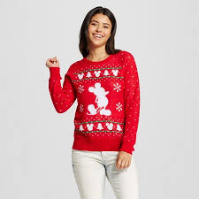 women u0027s disney mickey mouse ugly christmas sweater red target
