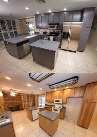 painting kitchen cabinets after sanding before and after refinishing kitchen cabinets scuffed with