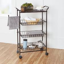 Bathroom Storage Cart Chapter Bathroom Storage Cart Rubbed Bronze Walmart