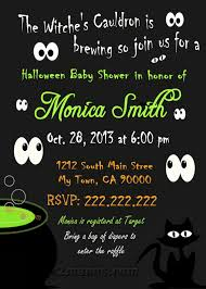 Poem About Halloween Mis 2 Manos Made By My Hands Halloween Baby Shower Invitation