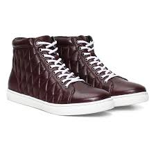 buy boots products india buy bareskin burgundy leather with white stitched sneakers