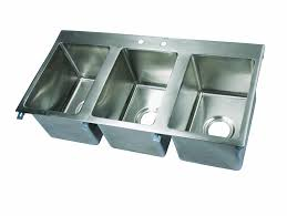 Kitchen Sink Restaurant Stl by Amazon Com John Boos Pb Disink101410 3 Deck Mount Pro Bowl Drop