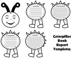 caterpillar book report project templates worksheets grading