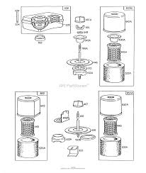 briggs and stratton 130212 1926 01 parts diagram for air cleaner