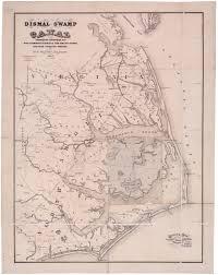 Map Of North Carolina And Virginia by The Dismal Swamp Canal North Carolina Digital History
