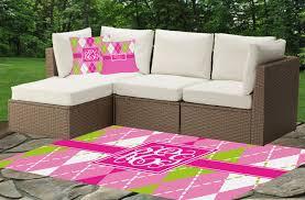 pink u0026 green argyle outdoor pillow personalized youcustomizeit