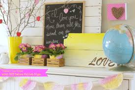 valentines day table settings for two rustic crafts chic decor