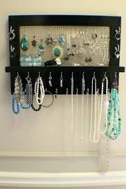 earring necklace organizer images Jewelry rack wall mount mailgapp me jpg