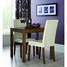 2 Seater Dining Table And Chairs Brompton Dining Set 3 Walnut At Wilko