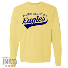 Long Sleeve Comfort Colors Eastern Script Comfort Color Long Sleeve T Shirt Multiple Colors